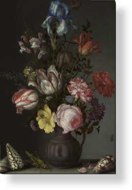 Flowers in a Vase with Shells and Insects
