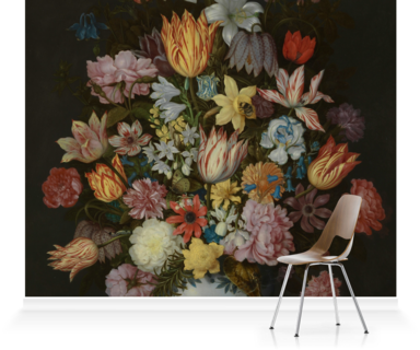 Murals Of A Still Life Of Flowers In A Wan Li Vase By National