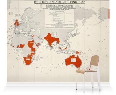 British Empire Shipping Map