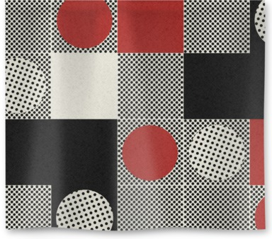 Lots of Black and Red Dots
