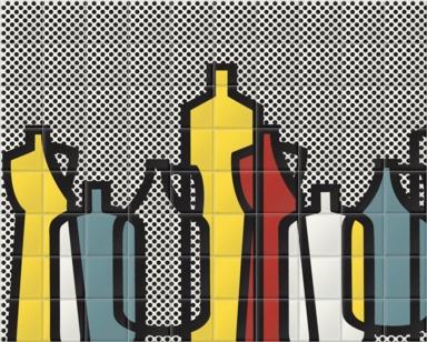 Pop Bottles Black