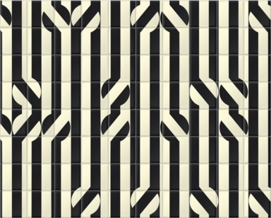 Stripey Circle Monochrome