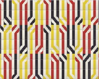 Stripey Circle Redy Black Yellow