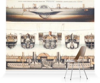Ship plan of the paddle steamer Persia