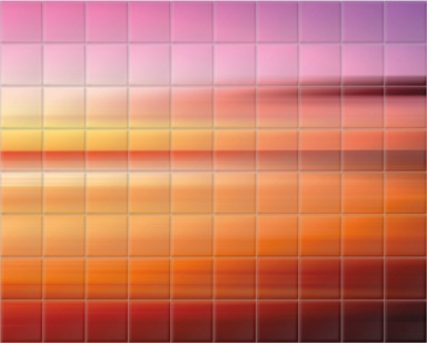 Kinetic Abstract Sunset III