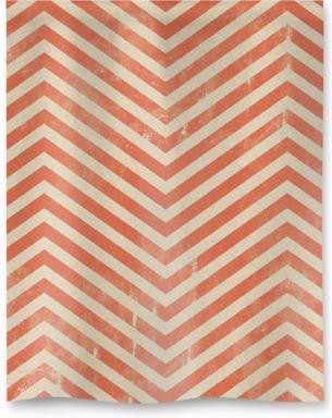 Vintage Red Zigzag