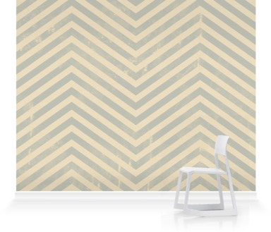 Vintage Blue-Grey Zigzag
