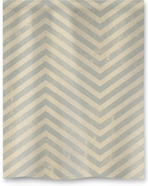 Vintage Blue-Grey Zigzag