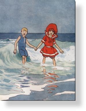 Boy and Girl Sea