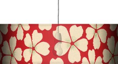 A red daisy design