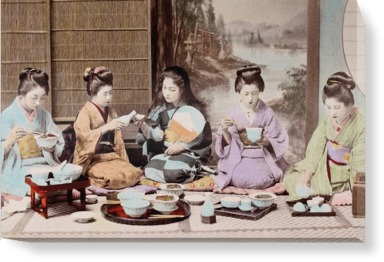 A group of Japanese women eating a meal