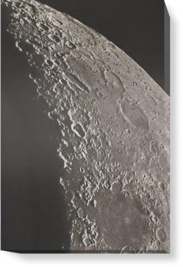 The Moon with Schickhard and Gassendi craters
