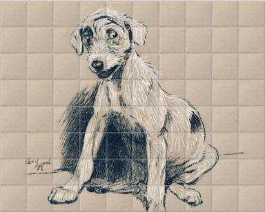 A dog sitting
