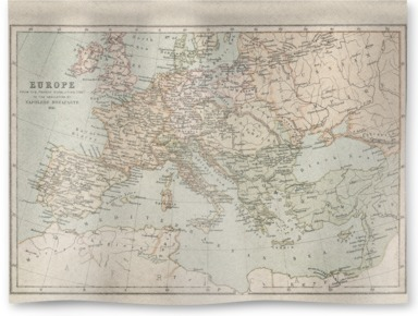 A map of Napoleonic Europe