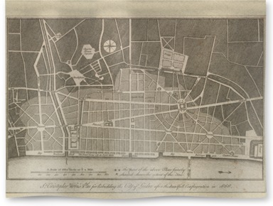 A plan for the improvement of London, 1666