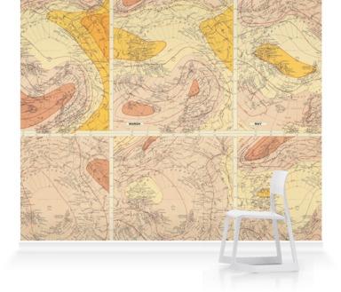 Isobars & Winds - North Polar