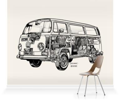 White Camper Van