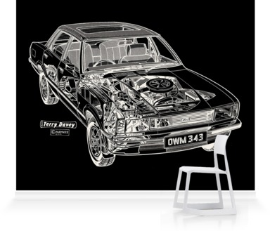 Black Ford Cortina