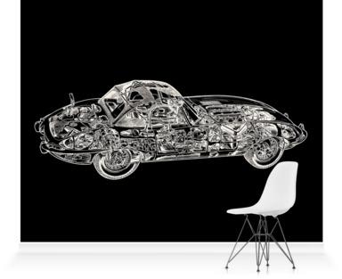 Black E-Type Jaguar