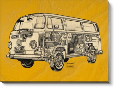 Golden Yellow Camper Van