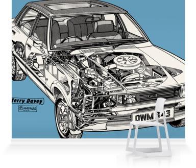Soft Blue Ford Cortina