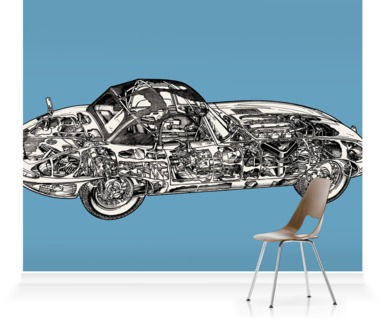 Soft Blue E-Type Jaguar