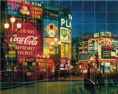 Piccadilly at night