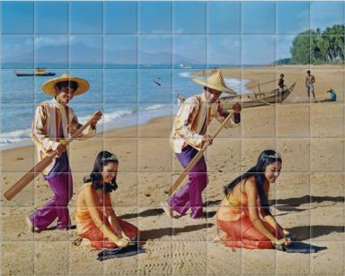 Sampan Dancers in Malaysia