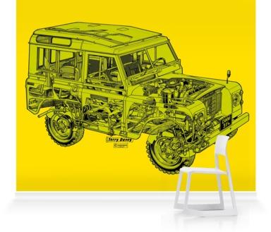 Lemon/Lime Land Rover