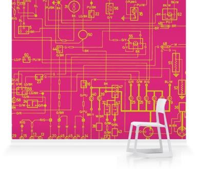 Pink/Lime Circuit Drawing