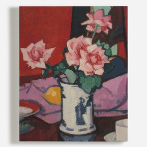 'Pink Roses, Chinese Vase'