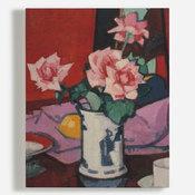'Pink Roses, Chinese Vase'
