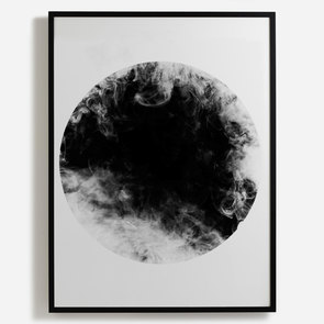 'Monochrome Circle and Smoke II'