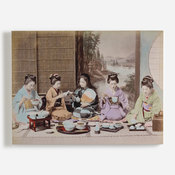 'A group of Japanese women eating a meal'