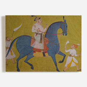 'Marahaja Pratap Singh of Sewar Riding'