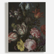 'Flowers in a Vase with Shells and Insects'