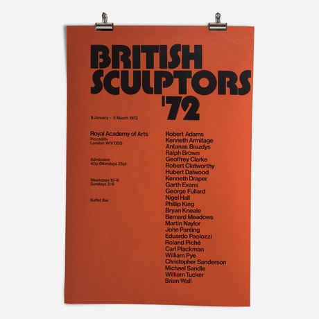 RA British Sculptors Exhibition 1972
