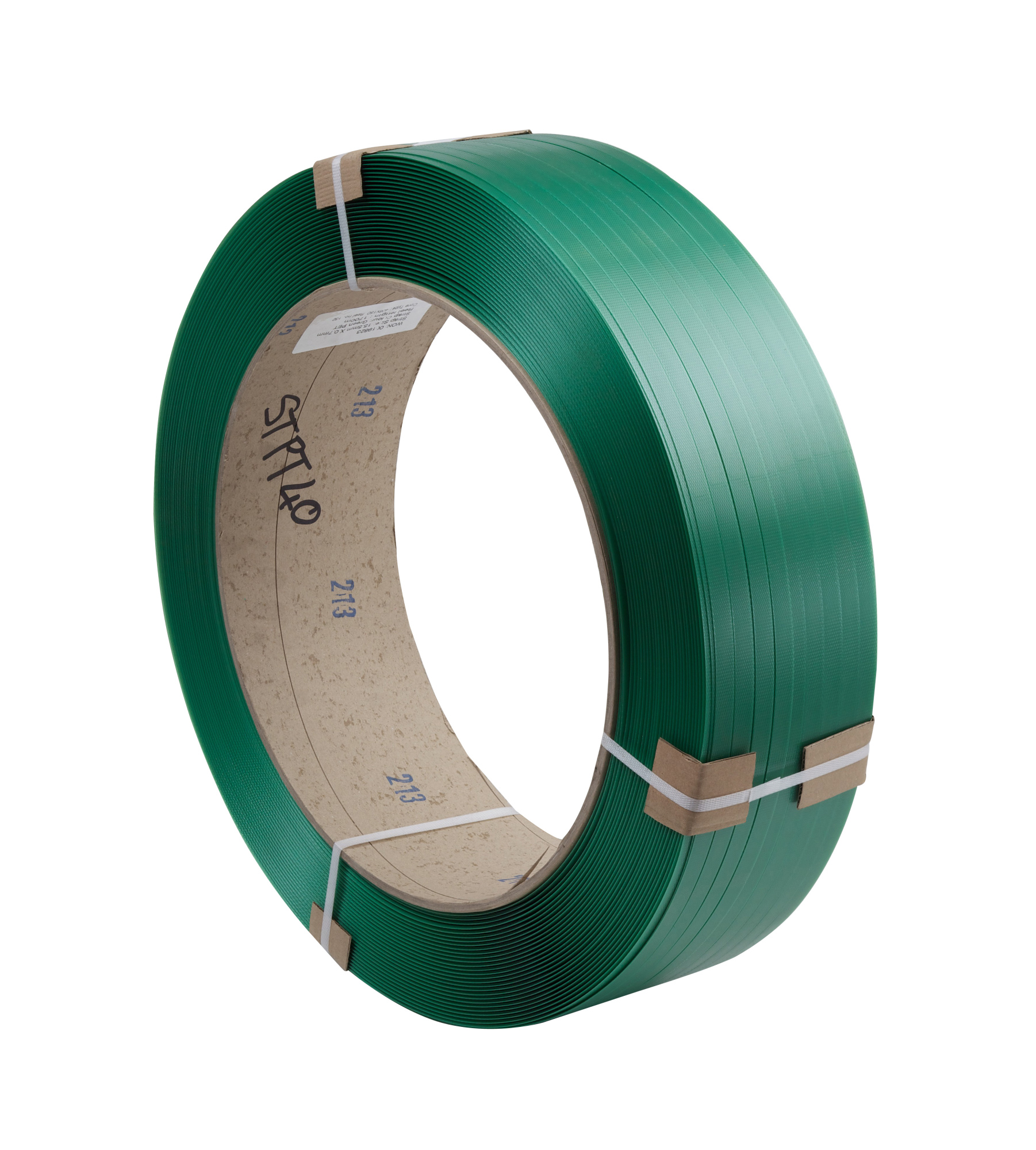 19.0 x 0.85mm x 1200m Green PET Strapping (406/150)