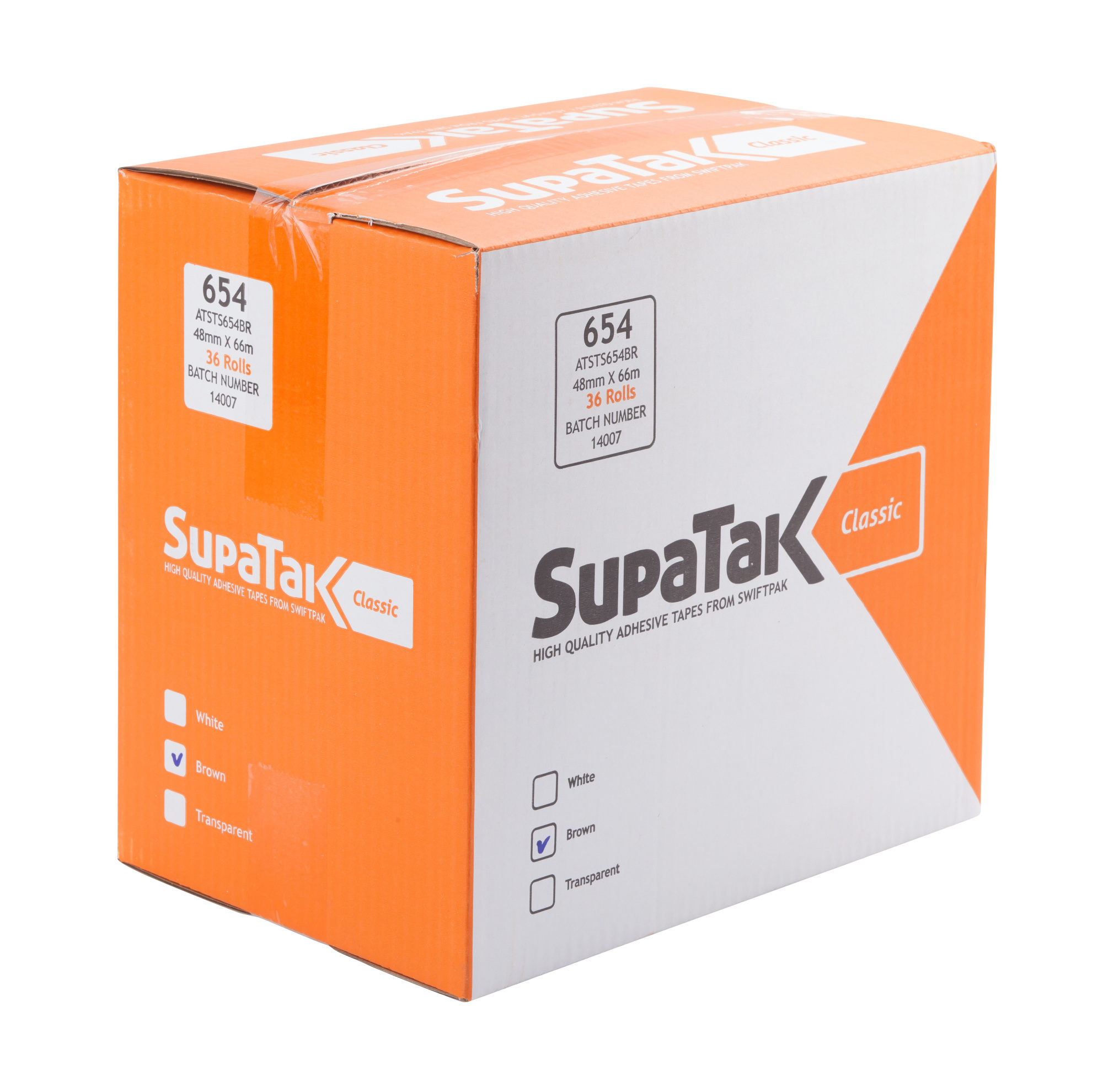 SUPATAK Classic 48mm x 66m Clear Tape