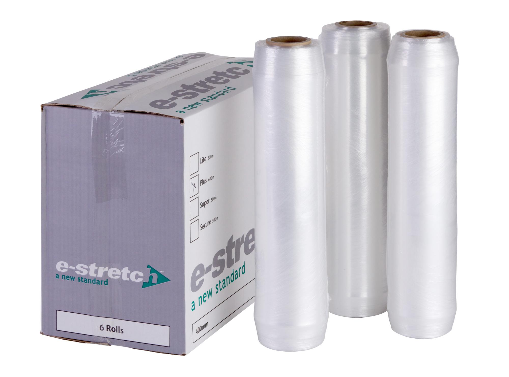 E-STRETCH Plus 400mm x 600m x 7mu Clear Hand Wrap