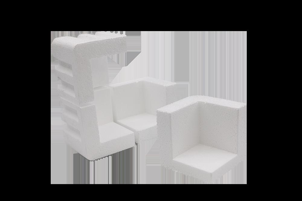 63 x 63 x 63mm 23mm Walls Polystyrene Corner Protector (576/Box)