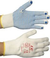 Dotted Grip Gloves Full Fingers Size 8 Pr