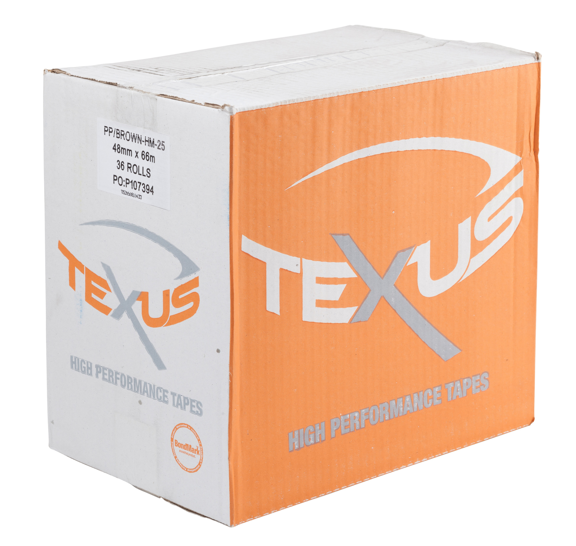 TEXUS 12mm x 66m Clear PP Easy Tear