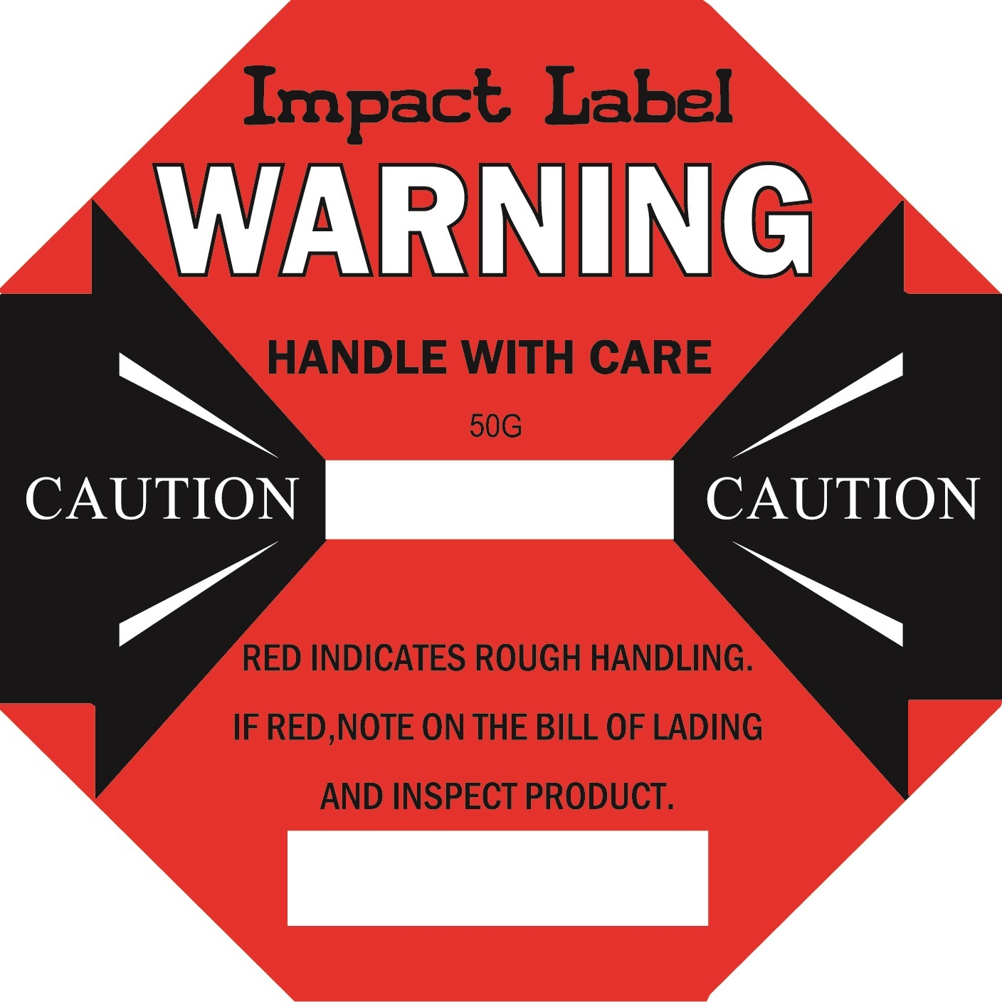 RED 50G Impact Label