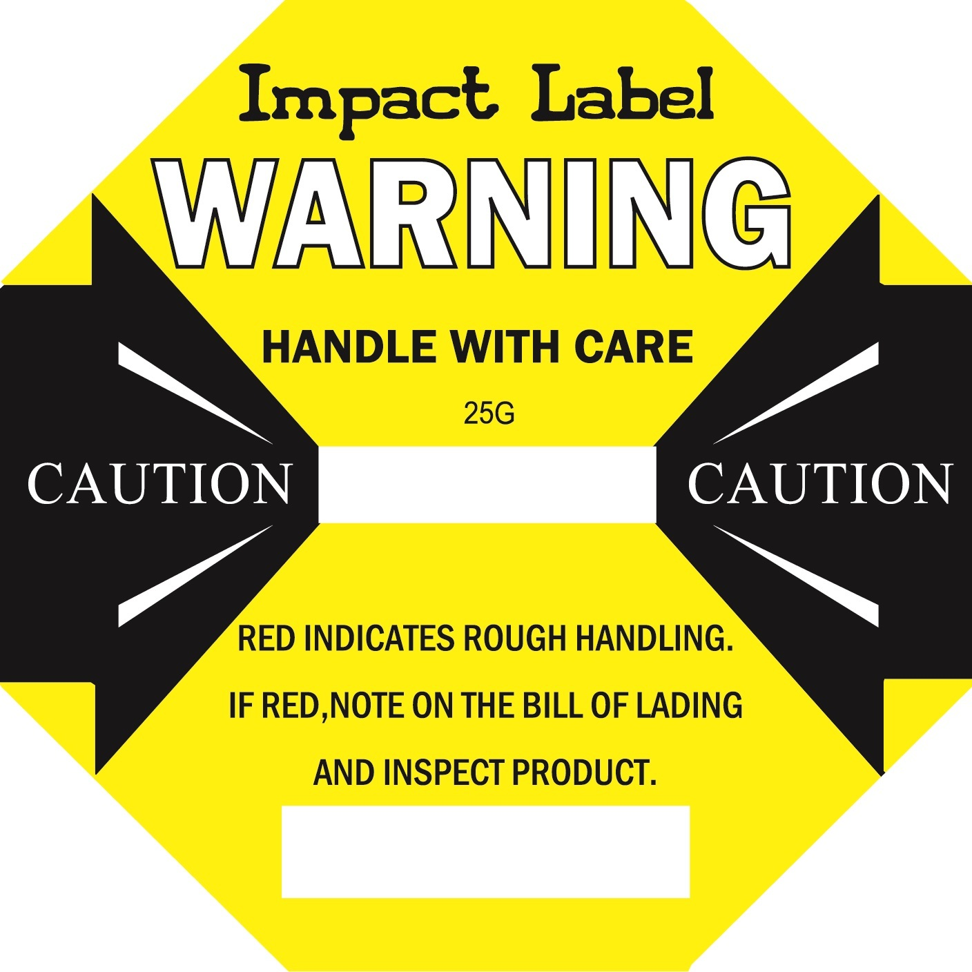YELLOW 25G Impact Label
