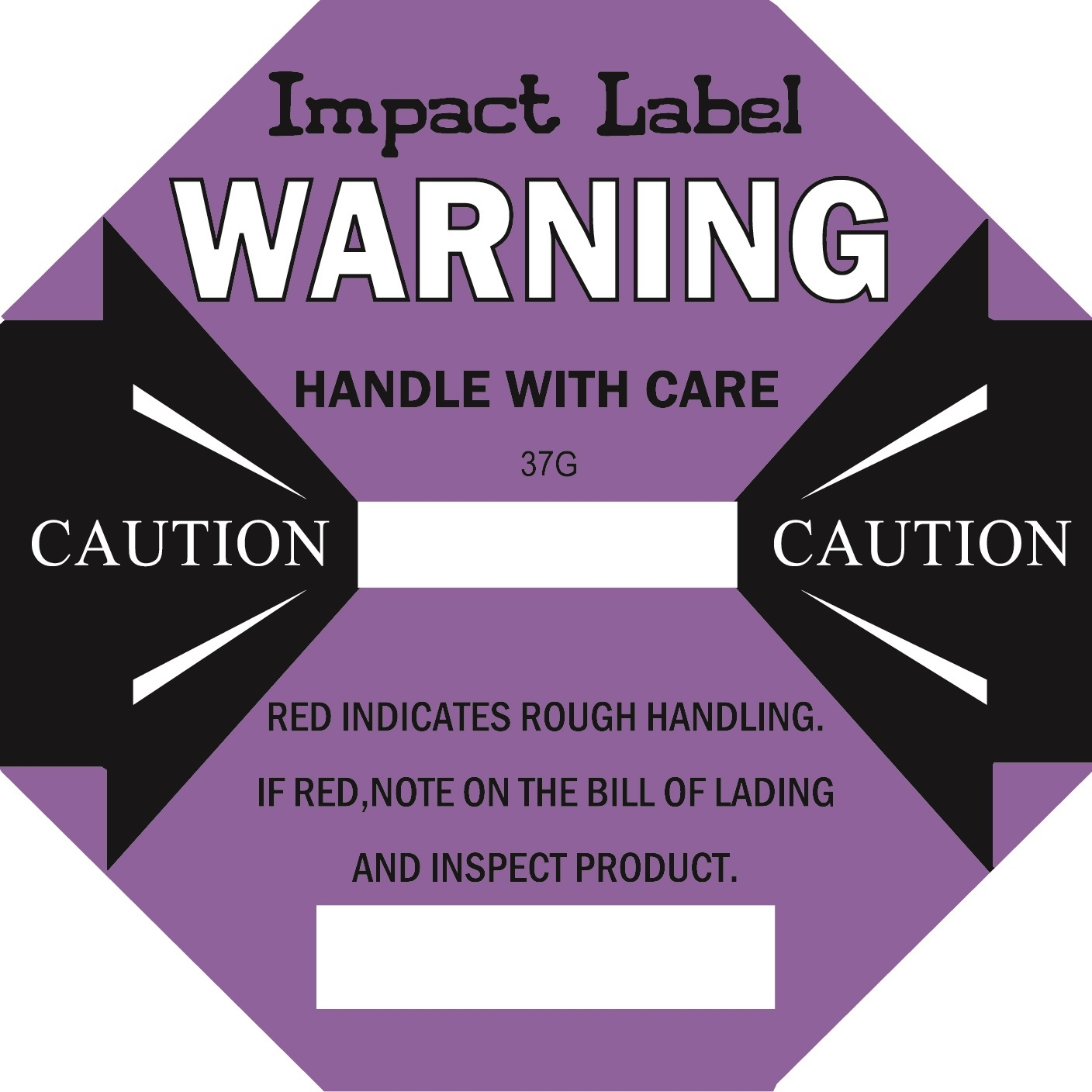 PURPLE 37G Impact Label