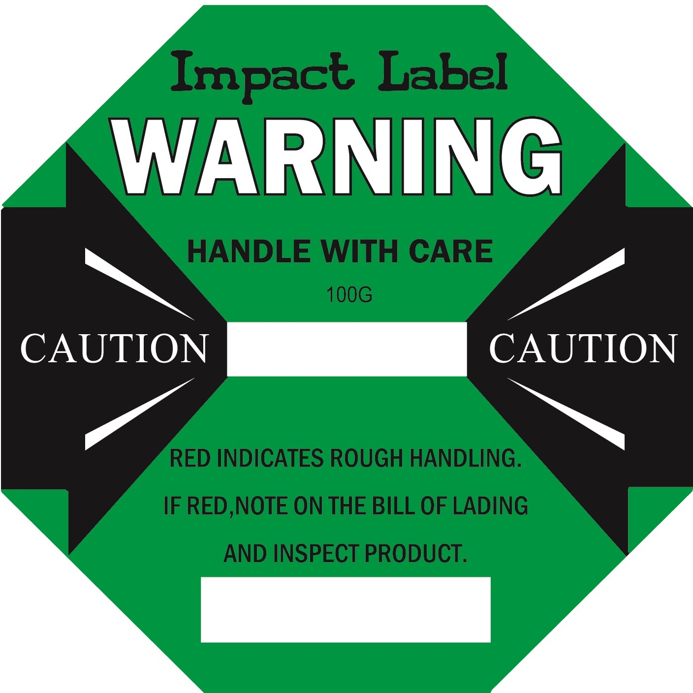 GREEN 100G Impact Label