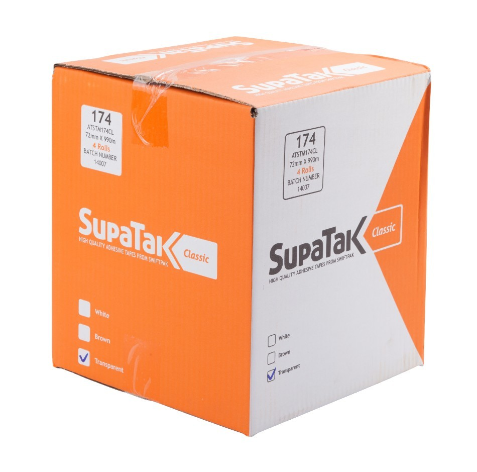 SUPATAK Classic 72mm x 990m Clear Tape
