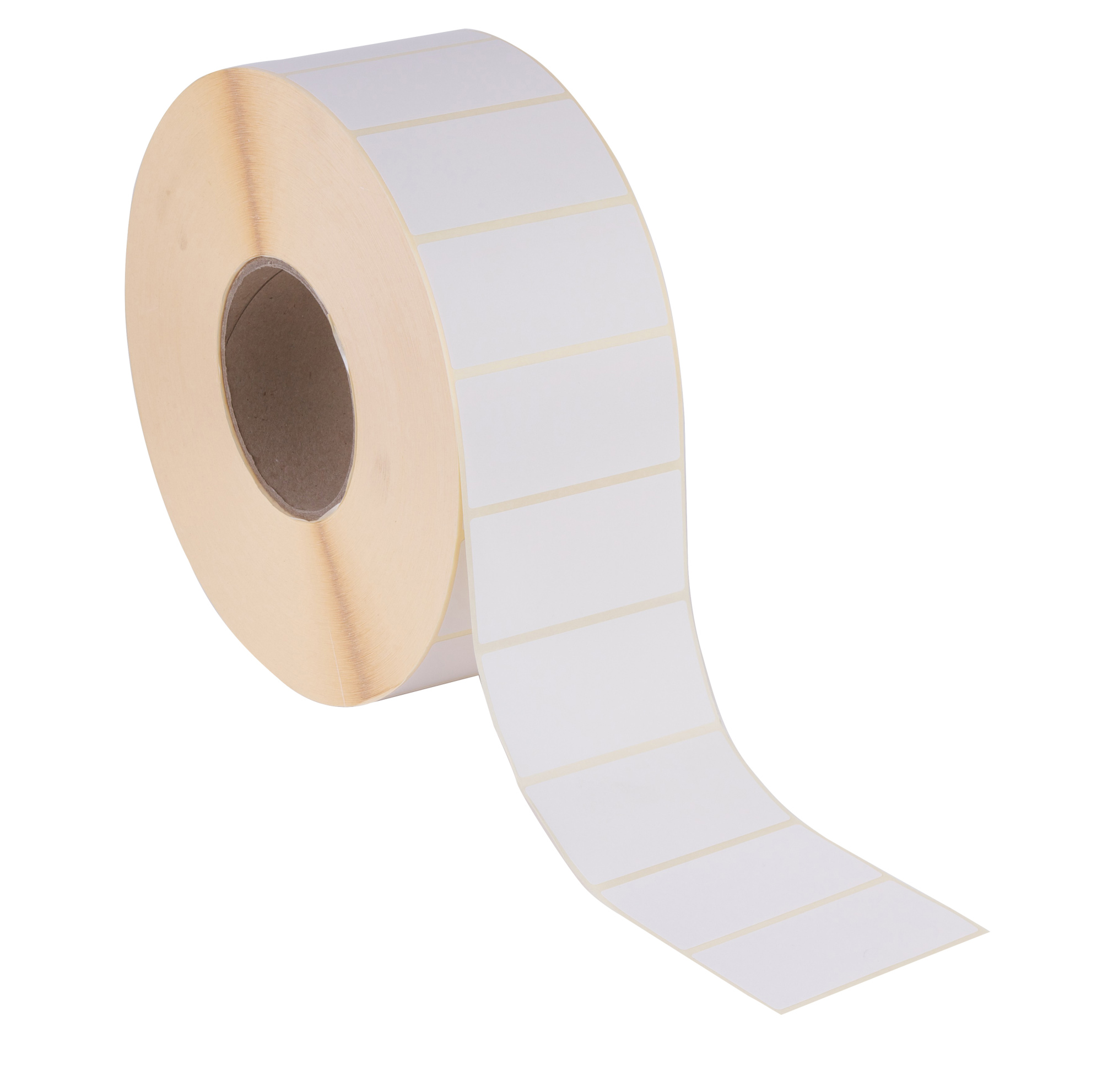 102 X 52 Plain White Thermal Direct Printer Labels