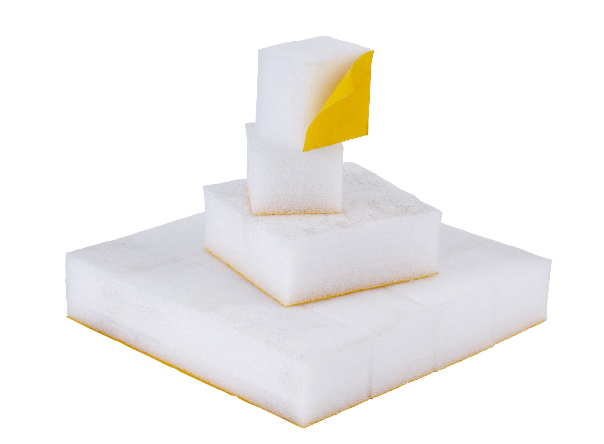 75 x 75 x 60mm White Self Adhesive Foam Block (320/box)